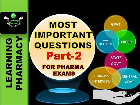 Part-2 THE MOST IMPORTANT QUESTIONS FOR UPCOMING PHARMACY EXAMS - RECENTLY APPROVED DRUGS BY US-FDA