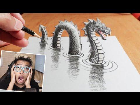 MENGGAMBAR 3D ART DIKERTAS PALING GOKIL SEPANJANG SEJARAH DUNIA!