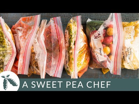 7 Slow Cooker Freezer Packs | How To Meal Prep | A Sweet Pea Chef