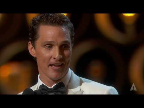 Actor - Jennifer Lawrence presenting Matthew McConaughey with the Oscar® for Best Actor for his performance in