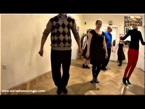 Clase de tango en Tango Praga, Republica Checa