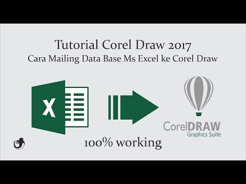 Tutorial Mailing Data Base Ms Excel Ke Corel Draw Print Serifikat