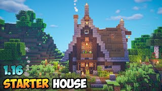 Minecraft Timelapse - The PERFECT Storybook Starter House for Minecraft 1.16!
