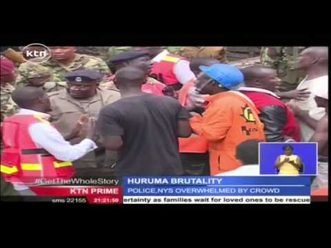 Savage police brutality caught on camera during Raila's visit to Huruma Tragedy site