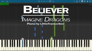 Video Imagine Dragons - Believer (Piano Cover) by LittleTranscriber MP3, 3GP, MP4, WEBM, AVI, FLV Januari 2018