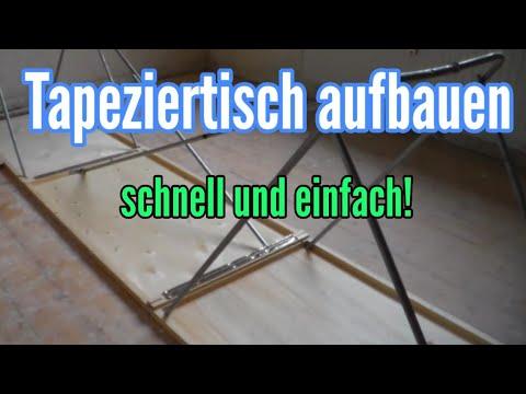 Wie baut man einen Tapeziertisch auf  - Flohmarkttisch aufbauen - Tapeziertisch aufstellen
