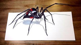 Video WILL IT BITE?! - Black Widow Challenge 3D Spider Drawing Trick Art MP3, 3GP, MP4, WEBM, AVI, FLV Maret 2019