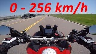 5. 2017 Ducati Multistrada 1200 - Acceleration 0-256km/h & Exhaust Sound & Burnout & Wheelie & Off-road