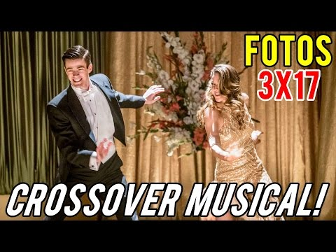 The Flash 3x17 FOTOS Supergirl CROSSOVER MUSICAL (HD)
