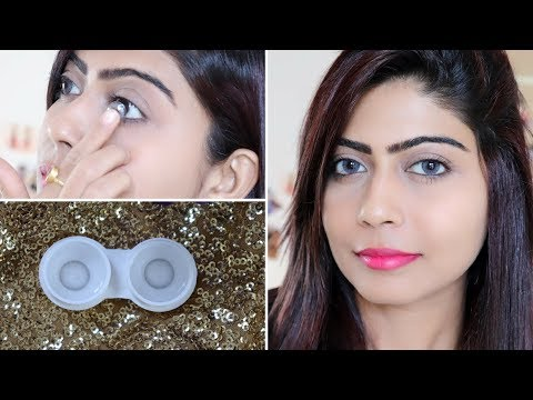 How to wear Contact Lens with Tips| Easy way | Rinkal Soni