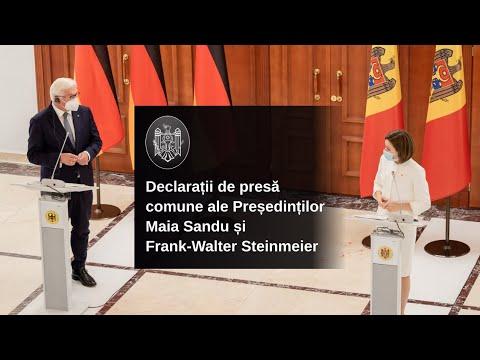 Declarația de presă a doamnei Maia Sandu, Președintele Republicii Moldova, după întrevederea cu domnul Frank-Walter Steinmeier, Președintele Republicii Federale Germania