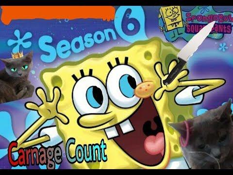 SpongeBob SquarePants Season 6 (2008) Carnage Count