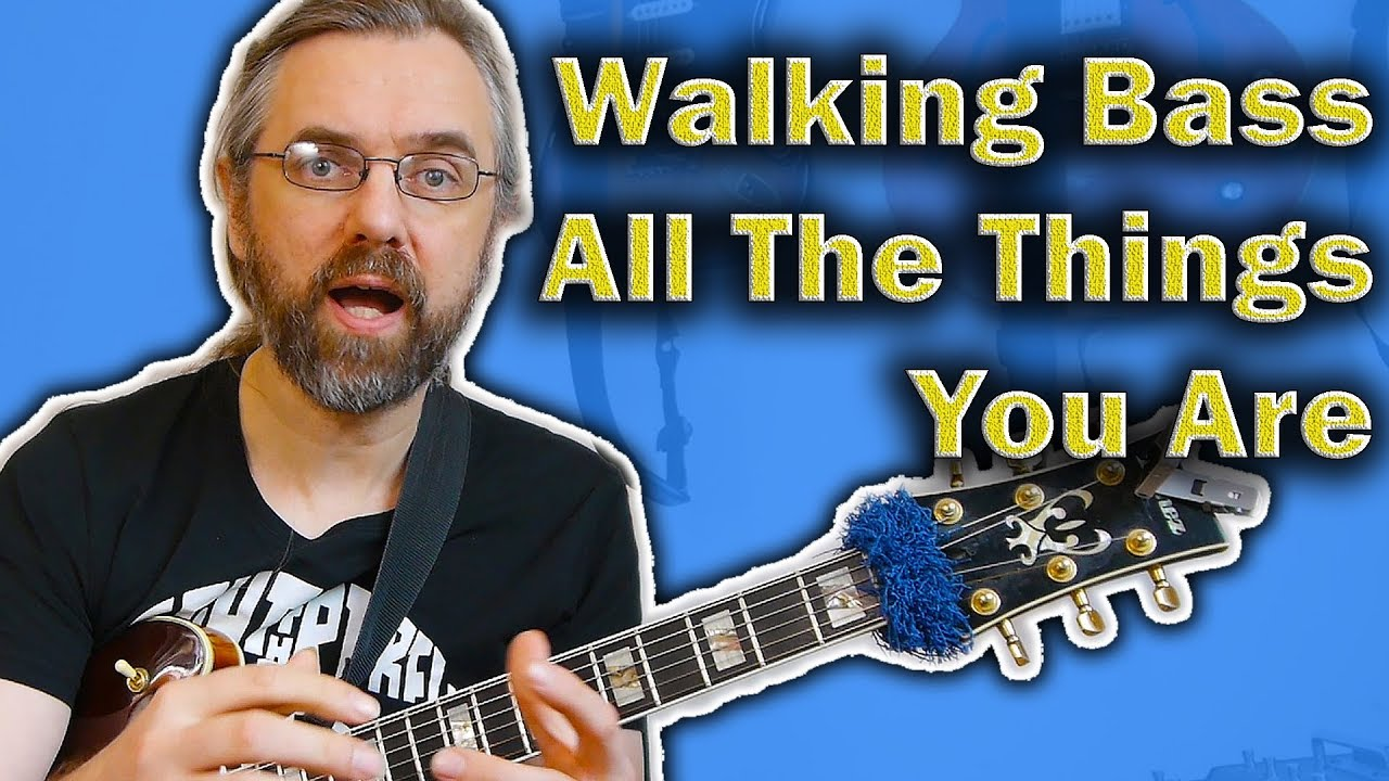 Walking Bass Jazz Guitar Lesson on All The Things You Are