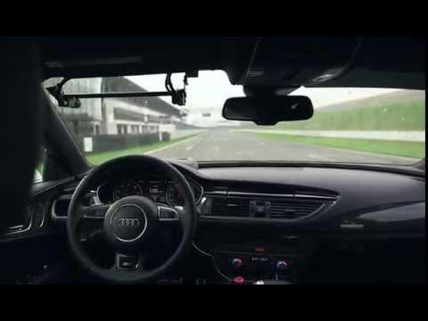 2014 Audi RS 7 Piloted Driving On the Race Track Cool!!!