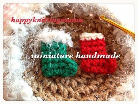 ミニチュアブーツの編み方☆クリスマスのオーナメントやハンドメイド資材などに☆Crochet☆
