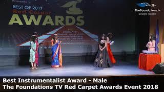 Steve Gorn wins The Foundations TV Best Instrumentalist Award Male Award