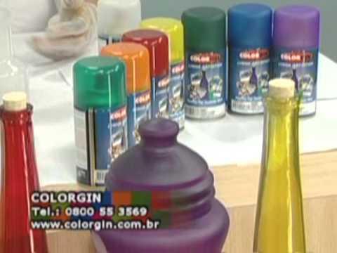 Colorgin no Ateliê na TV  - Vidros decorados com Jamille Weindler