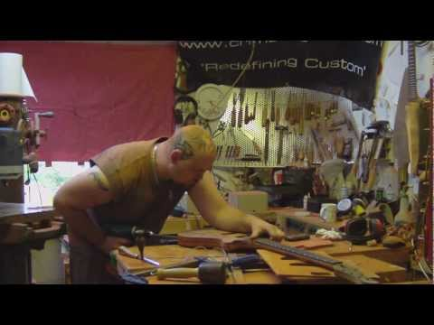 Video 12 - How to build a guitar | finalising the neck and body shape and drilling the controls