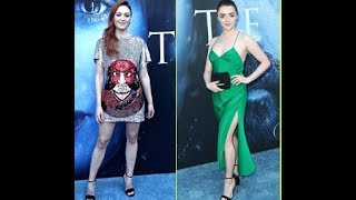 Sophie Turner Joins Maisie Williams at the 'Game of Thrones' Season 7 Premiere Sophie Turner sparkles on the red carpet as she arrives at the season 7 premie...