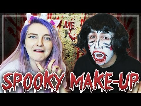 Lizzie does my SPOOKY Make-Up!