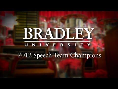 Bradley Speech Team 2012 Nationale Titel