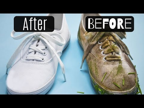 HOW TO CLEAN & WHITEN YOUR SHOES - EASY FASHION HACK