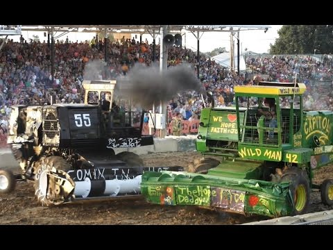 2014 Lorain County Fair Demolition Derby Heat 3 Heavyweight Combines (видео)
