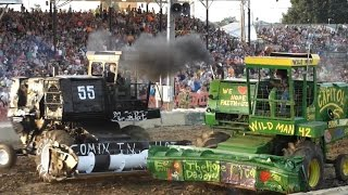 2014 Lorain County Fair Demolition Derby Heat 3 Heavyweight Combines