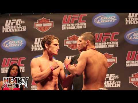 UFC 115 Liddell vs Franklin Weigh In Highlights