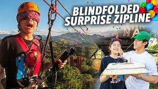 Video BDAY BLINDFOLDED ZIPLINE PRANK!! | Ranz and Niana MP3, 3GP, MP4, WEBM, AVI, FLV Mei 2019