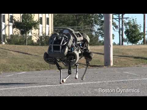 boston - WildCat is a four-legged robot being developed to run fast on all types of terrain. So far WildCat has run at about 16 mph on flat terrain using bounding and...