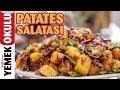 Patates Salatası Tarifi | Yeşili, Moru, Sarısıyla Üç Renkli Patates Salatası Tarifi