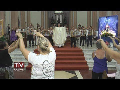 Frei Germano celebra última missa em Gaspar