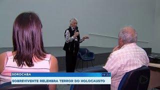 Sobrevivente relembra terror vivido no holocausto durante palestra em Sorocaba