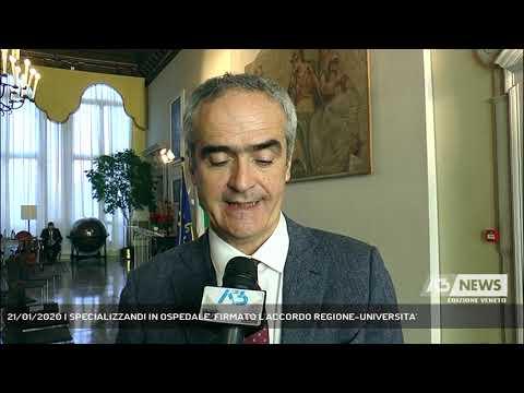 21/01/2020   SPECIALIZZANDI IN OSPEDALE, FIRMATO L'ACCORDO REGIONE-UNIVERSITA'