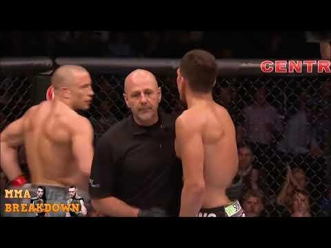 George St Pierre vs Nick Diaz Best Highlights