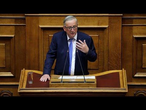 «Ψήφος εμπιστοσύνης» Γιούνκερ στην Ελλάδα μετά τα μνημόνια