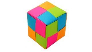 Оригами кубик рубик из бумаги Mitsunobu Sonobe