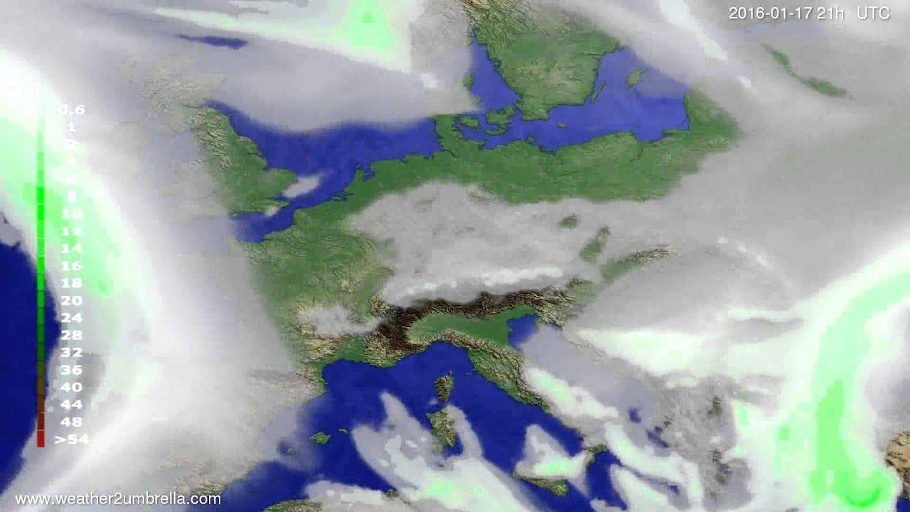 Precipitation forecast Europe 2016-01-14