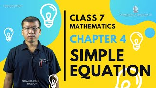 Chapter 4 - Simple Equation
