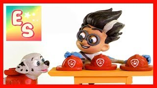 Paw Patrol Marshall and PJ Masks Romeo Play Doh Cartoon