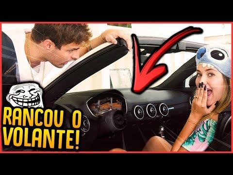OLHA O QUE FIZERAM COM VOLANTE DO MEU CARRO!! - TROLLANDO REZENDE [ REZENDE EVIL ]
