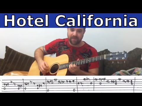 Fingerstyle Tutorial: Hotel California (Instrumental) - Guitar Lesson w/ TAB