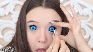 Video Putting In 4 (HUGE) Sclera Color Contacts For The First Time (Tips for you too!) ... Fiona Frills MP3, 3GP, MP4, WEBM, AVI, FLV Februari 2019