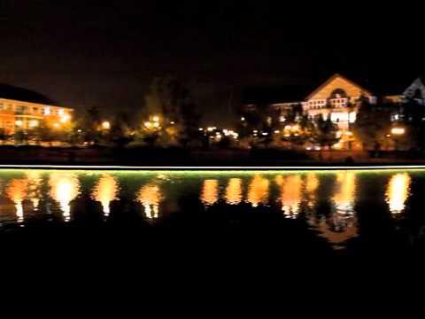 Stockton on tees, river tees lighting.