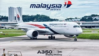 Video Malaysia Airlines Airbus A350 NEW Business Class Experience! | MH 1145 PEN-KUL Flight VLOG MP3, 3GP, MP4, WEBM, AVI, FLV November 2018