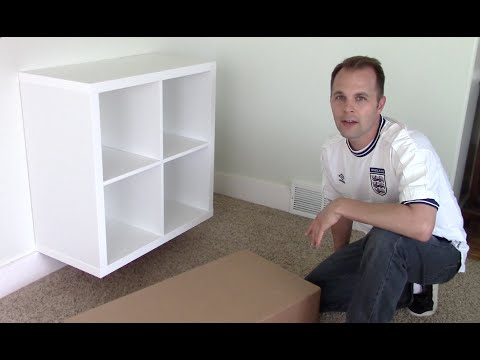 Ikea EXPEDIT / KALLAX shelf - how to assemble and wall mount bookcase