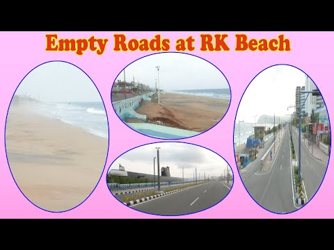 Lockdown Empty Beach Road Enjoy Video at RK Beach in Visakhapatnam,Vizagvision....