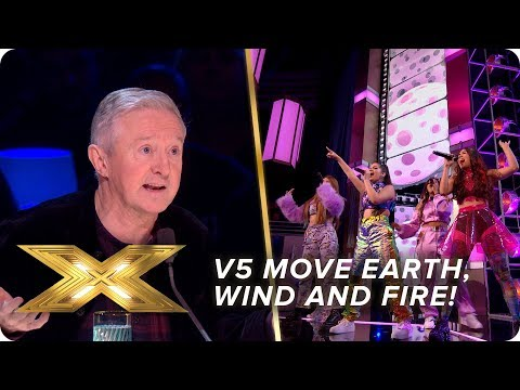 V5 move Earth, Wind and Fire singing 'September' | Semi-Final | X Factor: Celebrity