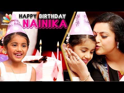 Video Happy Birthday Theri Baby Nainika ! | Meena Interview & Celebration | Bhaskar oru Rascal download in MP3, 3GP, MP4, WEBM, AVI, FLV January 2017